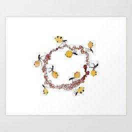 Honey Ant Roundabout Art Print