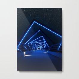 Starry High Trestle Bridge Metal Print