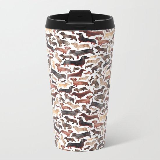 Dachshund Metal Travel Mug
