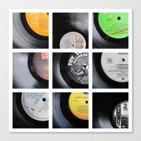 vinyl Canvas Prints featuring Vinyl by Kitsmumma