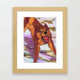 Fearless leader Framed Art Print