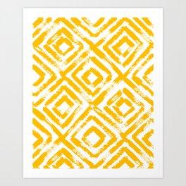 Amber Yellow Geometric Print Art Print