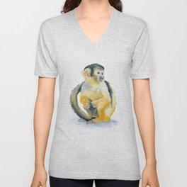 Sqirrel Monkey Unisex V-Neck