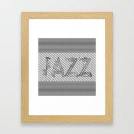JAZZ SILVER MUSICAL INSTRUMENTS Framed Art Print