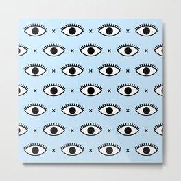 Eye Pattern Metal Print