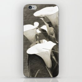 Calla Lily Flower Sepia Photo iPhone Skin