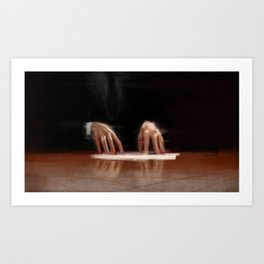 The contract, digital illustration painting Art Print