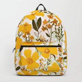 Yellow roaming wildflowers Backpack