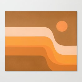 Endless Sunset Canvas Print