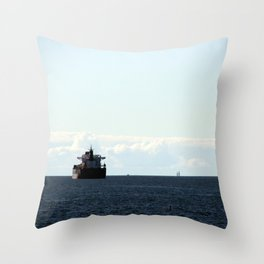 leaving port Throw Pillow