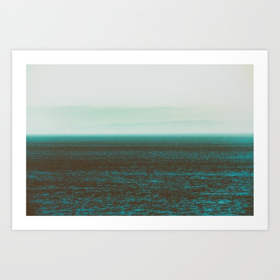 Sea front green Art Print