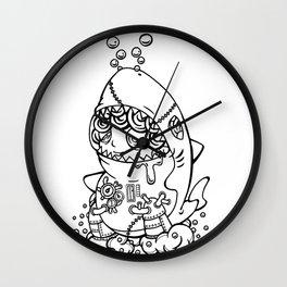 Shark's submarine Wall Clock