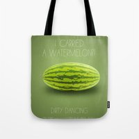 dirty dancing Tote Bags featuring Dirty Dancing by Marvelis