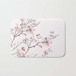 Apple Blossom Pink #society6 #buyart Bath Mat