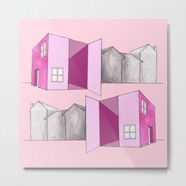 Pink home Metal Print