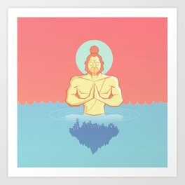Hanuman Ji : Early morning Meditation  Art Print