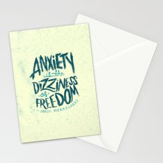 Kierkegaard on Anxiety Stationery Cards