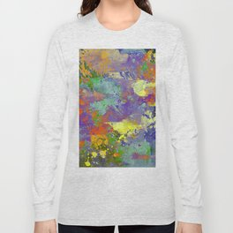 Signs Of Life - Vibrant, random paint splatter multi coloured abstract Long Sleeve T-shirt