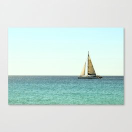 Sail Away with Me - Ocean, Sea, Blue Sky and Summer Sun Canvas Print