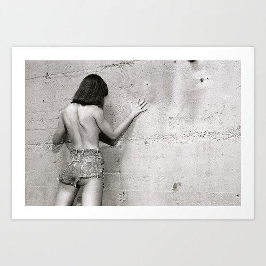 Wall flower girl Art Print