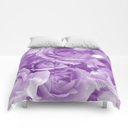 Violet Rose Bouquet For You - Valentine's Day #decor #society6 #homedecor Comforters