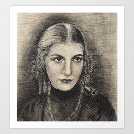 youth - many years ago Art Print