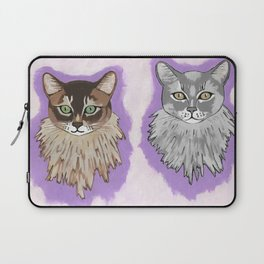 Somali Cats Leo And Vikki Laptop Sleeve