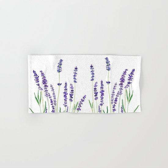 Lavender watercolor flower blue color  Hand & Bath Towel