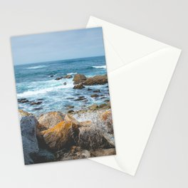 The Restless Sea II   Nature Landscape Photography of the Californian Coast's Blue Waves Stationery Cards