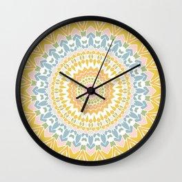 Pastel Pebbles Mandala Wall Clock