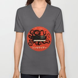 Vintage Kraken Synth Analog Synthesizer Japanese Retro Gear Premium design Unisex V-Neck