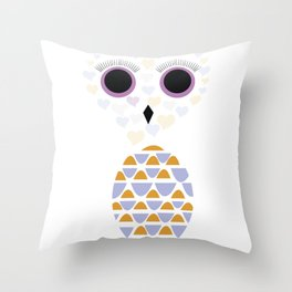 Owls Just Want to Have Fun No.5 Throw Pillow