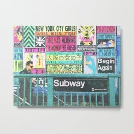 NYC Subway Art Metal Print