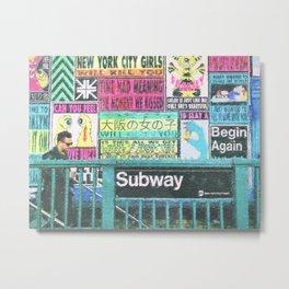 NYC Subway Art Metal Print