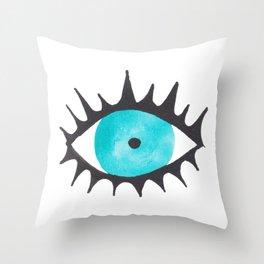 Evil Eye IV Throw Pillow