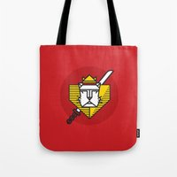 gryffindor Tote Bags featuring Gryffindor House Crest Icon by Manuja Waldia