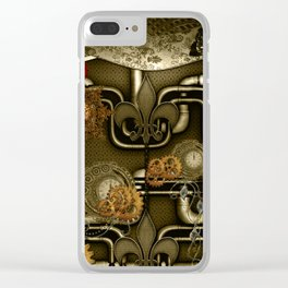Wonderful noble steampunk design Clear iPhone Case