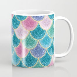 Glittery Mermaid Scales Coffee Mug