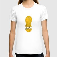 cracked T-shirts featuring cracked peanut  by jerbing