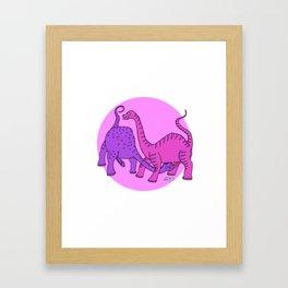 Before Time Began I (pink) Framed Art Print