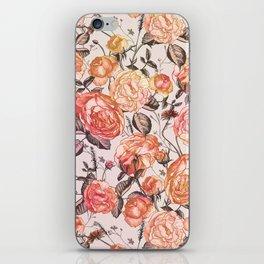 Vintage Floral Watercolor Pattern iPhone Skin