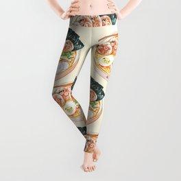 Ramen Pugs Watercolor Leggings