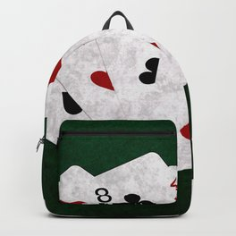 Poker Hand Full House Eight Four Backpack