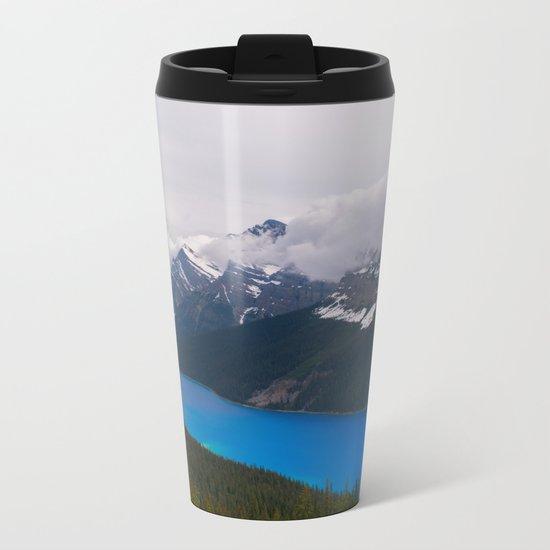 Bright Blue Body Metal Travel Mug