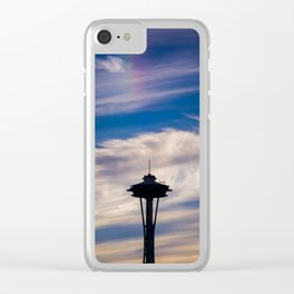 The Needle at the end of the rainbow Clear iPhone Case