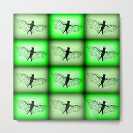 bats- in green Metal Print