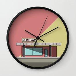 Petrol Station Wall Clock