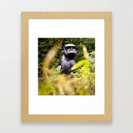 Gorilla in my front yard Framed Art Print