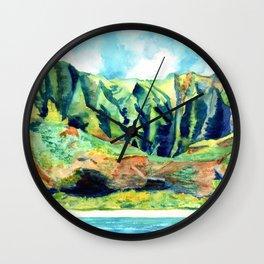Kauai's Na Pali Coast Wall Clock