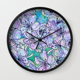 Over and Over Flowers Wall Clock